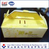Коробка торта бумаги печатание продуктов Китая изготовленный на заказ складывая упаковывая, испечет продукты бумажной коробки самые лучшие, коробку подарка бумажную
