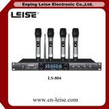 Alto microfono della radio di frequenza ultraelevata dei canali del microfono quattro di karaoke Ls-804