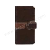 Caja superior de la carpeta de la cubierta de cuero del teléfono del iPhone 7 de la calidad del OEM