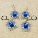 Trousseau de clés promotionnel d'acrylique de caractère. Trousseau de clés acrylique estampé