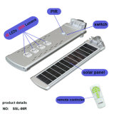 Heiße Verkaufs-Bewegungs-Fühler-Sonnenenergie-im Freienbeleuchtung alle in einem Solarstraßenlaterneder Sonnenkollektor-Lampen-LED mit FernControlar