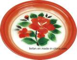Plaque de riz d'émail/plaque de potage avec le décor de Colorfull