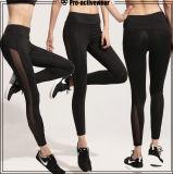Pantalones negros de la compresión del desgaste de la yoga de la alta calidad (Lycra)