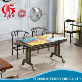 Houten Kleurrijke Eettafel voor het Gebruik van het Restaurant van het Huis
