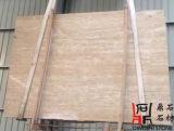 壁の装飾またはカウンタートップのための自然な石造りの建築材料の高品質のクリームのTravertine
