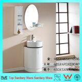 Vanidad Floor-Mounted del cuarto de baño de la dimensión de una variable redonda del PVC