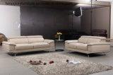 Sofá simples moderno do couro da L-Forma para a sala de visitas (TG-9918)