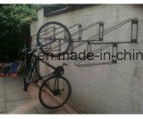 잘 고정된 자전거 주차 선반