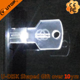 Movimentação de cristal clara do flash do USB da chave do diodo emissor de luz para os presentes Shining (YT-3213-09)