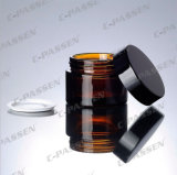 新しい到着の化粧品の包装のための焦茶のガラスクリーム色の瓶(PPC-GBJ-008)