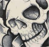 Klok van de schedel nam Sticker van de Tatoegering van de Patronen van het Spook de Waterdichte Tijdelijke toe
