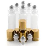 rodillo ambarino 5ml en el Portable de la botella de petróleo esencial de las botellas de cristal para el recorrido