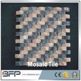 Telhas de pedra de mármore baratas do mosaico do estilo popular para a decoração da parede