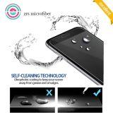 カーボンファイバーのiPhone 7のための柔らかい端スクリーンカバー緩和されたガラス
