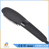 Mundial Automatic LCD aquecida cabelo elétrico endireita escova de cabelo Straightener Comb