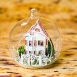 유리제 공을%s 가진 소형 성곽 인형 집 모형