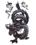Etiquetas engomadas temporales impermeables del tatuaje del modelo popular del dragón