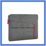 Popular material ecológico del 70% de lana de fieltro contenido cartera del ordenador portátil de la manga, manga suave del ordenador portátil de encargo portátil con cierre de cremallera