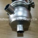 Válvula de flujo neumática inoxidable higiénica sanitaria del desviador del acero Ss304 Ss316L