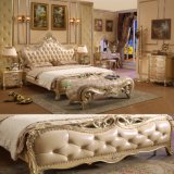 Cama de madeira com mesa de cômoda para mobiliário de madeira Conjunto de móveis