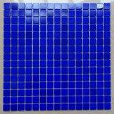 Het mozaïek betegelt het Blauwe Mozaïek van het Glas voor Zwembad