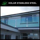 36 barandilla de cristal del acero inoxidable de la altura ASTM 304/316 de la pulgada para el pasamano del balcón