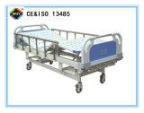 (A-47) Three-Function ручная медицинская больничная койка с головкой кровати ABS