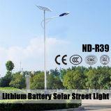Luzes de rua pstas solares de alumínio do corpo Material12V 30ah~60ah da lâmpada