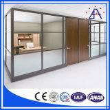알루미늄 모듈 분할 또는 알루미늄 사무실 벽 분할 또는 벽 분할 물자