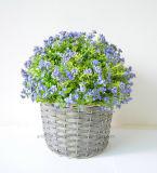 Fleur sauvage artificielle dans le panier de rotin pour la décoration