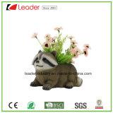 POT di fiore della statua del Raccoon della resina di Caldo-Vendita per la decorazione del giardino e della casa