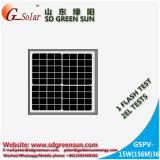 mono comitato solare 15W per l'indicatore luminoso del LED