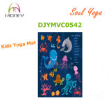 Esteira Non-Slip da ioga dos miúdos com impressão animal encantadora da imagem na esteira da ioga da borracha natural