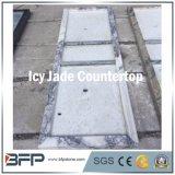 M269 Ijzige Purpere Marmeren Countertop van de Jade voor de Bank van de Receptionnist van de Badkamers