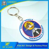 Più nuovo anello portachiavi di gomma personalizzato del PVC per il ricordo (XF-KC-P44)
