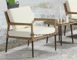Nuevo conjunto de café de mimbre al aire libre de la barra del café de la silla de los muebles de la rota con el otomano y el vector