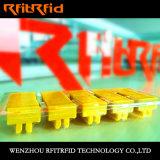 O banco da freqüência ultraelevada impede a etiqueta da calcadeira RFID