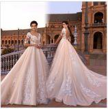 Шнурка шарика мантии Bridal платья 2017 венчания 6836