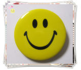 Refléter l'insigne de bouton de bidon de sourire pour la décoration (YB-BT-02)