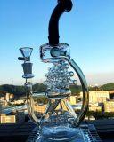 Doppelter Tastegroßhandelsbirdcage-rauchendes Wasser-Glasrohr