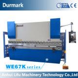Frein de presse hydraulique d'acier inoxydable de commande numérique par ordinateur de We67k, machine à cintrer de plaque en aluminium