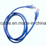 Überschwemmtes UTP Cat5e LAN-Kabel mit Plattfisch-Durchlauf