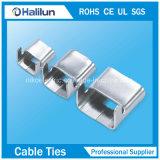 fascetta ferma-cavo rivestita della serratura dell'ala dell'acciaio inossidabile del PVC 13*250mm/di 9*250mm