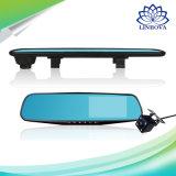 Fhb 1008p 4.3 видеозаписывающее устройство автомобиля DVR экрана LCD дюйма Anti-Explosion паркуя объектив фотоаппарата водоустойчивого монитора зеркала вид сзади двойной с 4 светами СИД