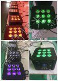 9 * 12W RGBWA + UV 6in1 Chargable واي فاي شقة PAR ضوء