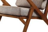Estructura de madera sólida con alto grado de tela Sillón