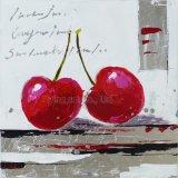 Hecho a mano de pintura de acrílico al óleo del arte para la fruta de la cereza