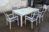 Textilene Aluminiumim freiengarten-Möbel 8 Seaters, das Set TF-6148 speist