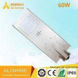 Luz de calle solar de 50W LED con control de tiempo para el camino