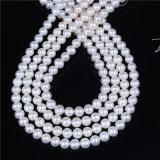 "Perla 9m m floja de agua dulce blanca 16 del hilo 8m m de la perla del grado del AAA "" de largo"